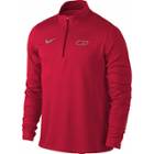 Image for the Men's Quarter Zip Dri-Fit Red Long Sleeve Shirt product