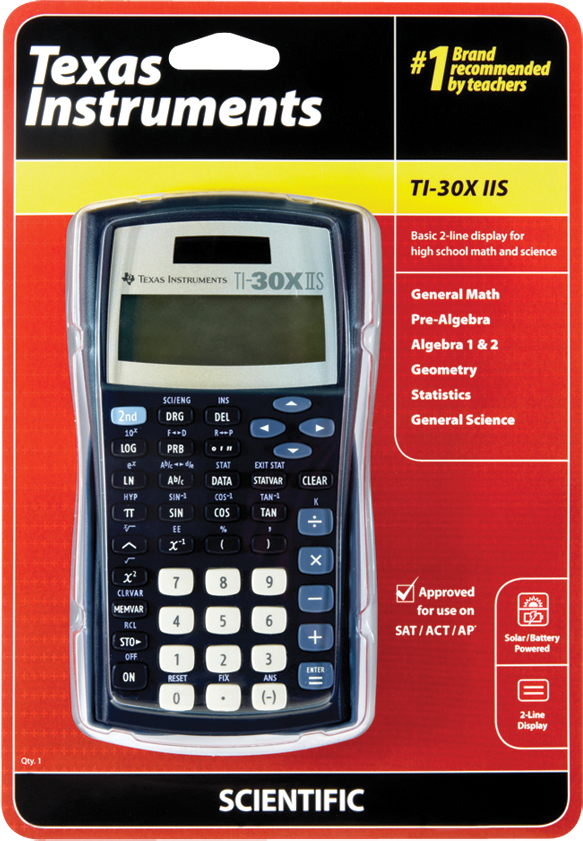image of: TI 30X IIS Scientific Calculator - Black 1Pk