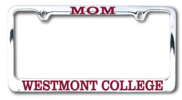 image of: Mom Chrome License Plate Frame