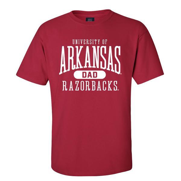 Arkansas Razorbacks Arkansas Dad Short Sleeve Tee- Crimson