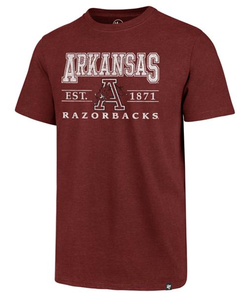 Arkansas Razorbacks '47 Brand Vintage Walk On Club Tee- Cardinal