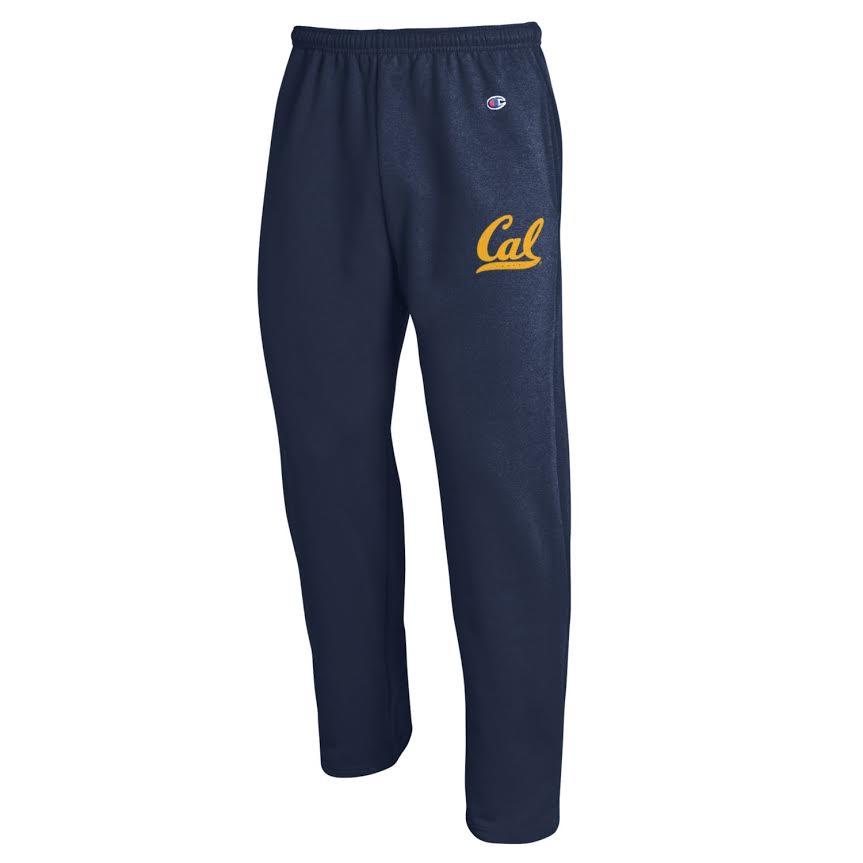 M Champion Powerblend Open Bottom Pant Cal Logo