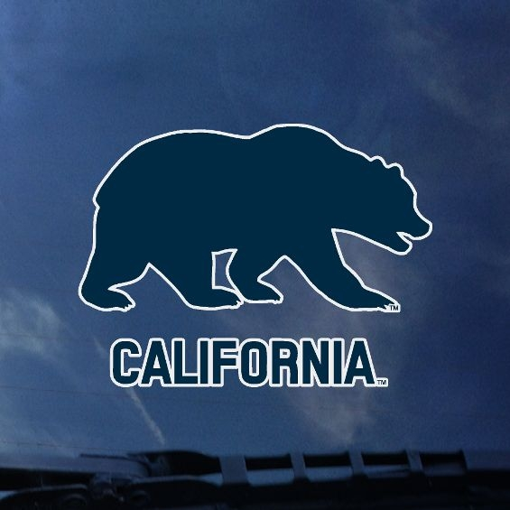 Color Shock Decal Bear over California