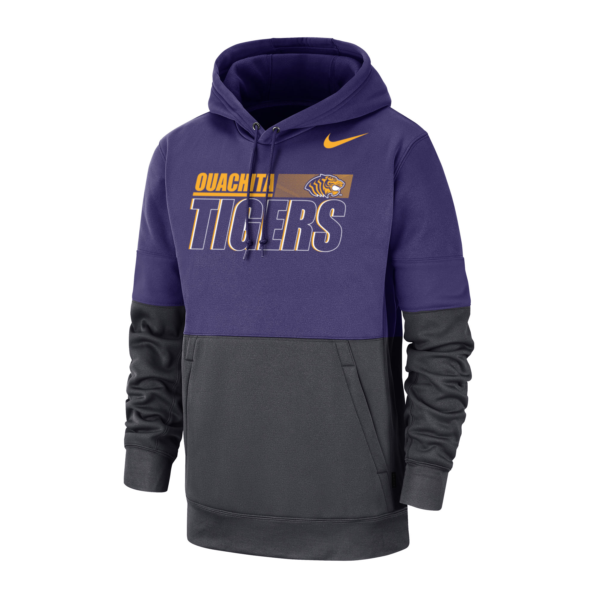 image of: OUACHITA TIGERS NIKE SIDELINE THERMA HOOD