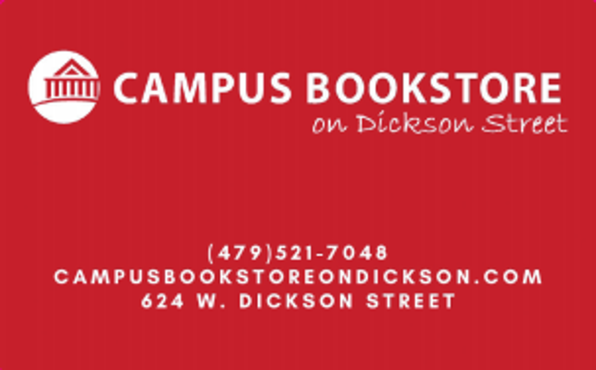 image of: Campus Bookstore Gift Card (Physical)