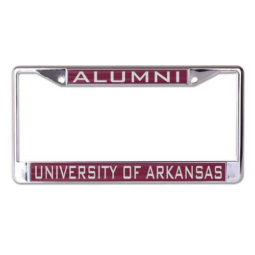University of Arkansas Alumni WinCraft Laser Inlaid Metal License Plate Frame
