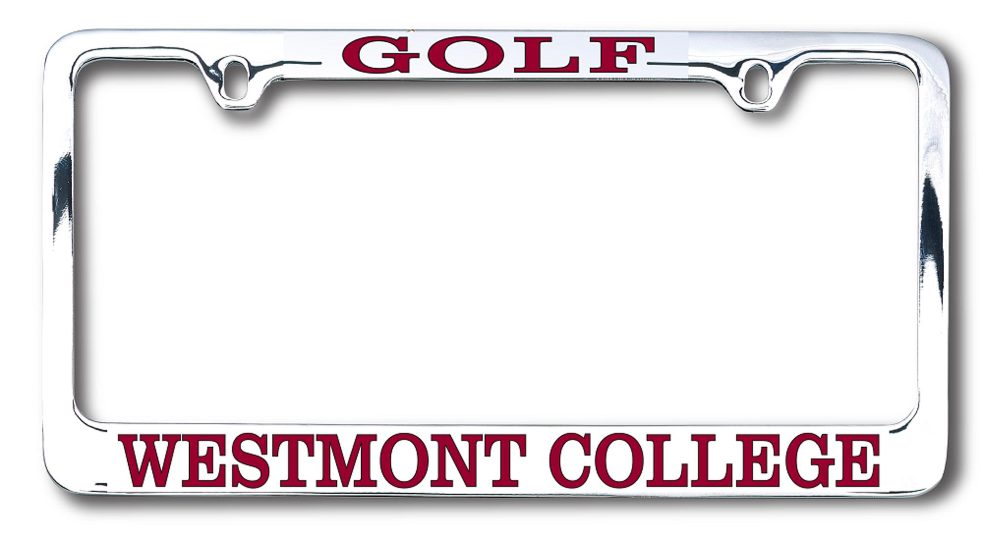 image of: Westmont Chrome Golf License Plate Frame