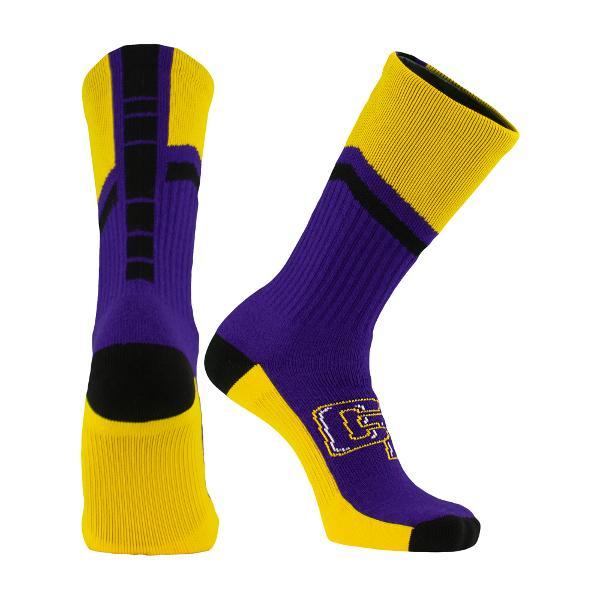 Dash 2 Crew Socks - Purple/Black/Gold