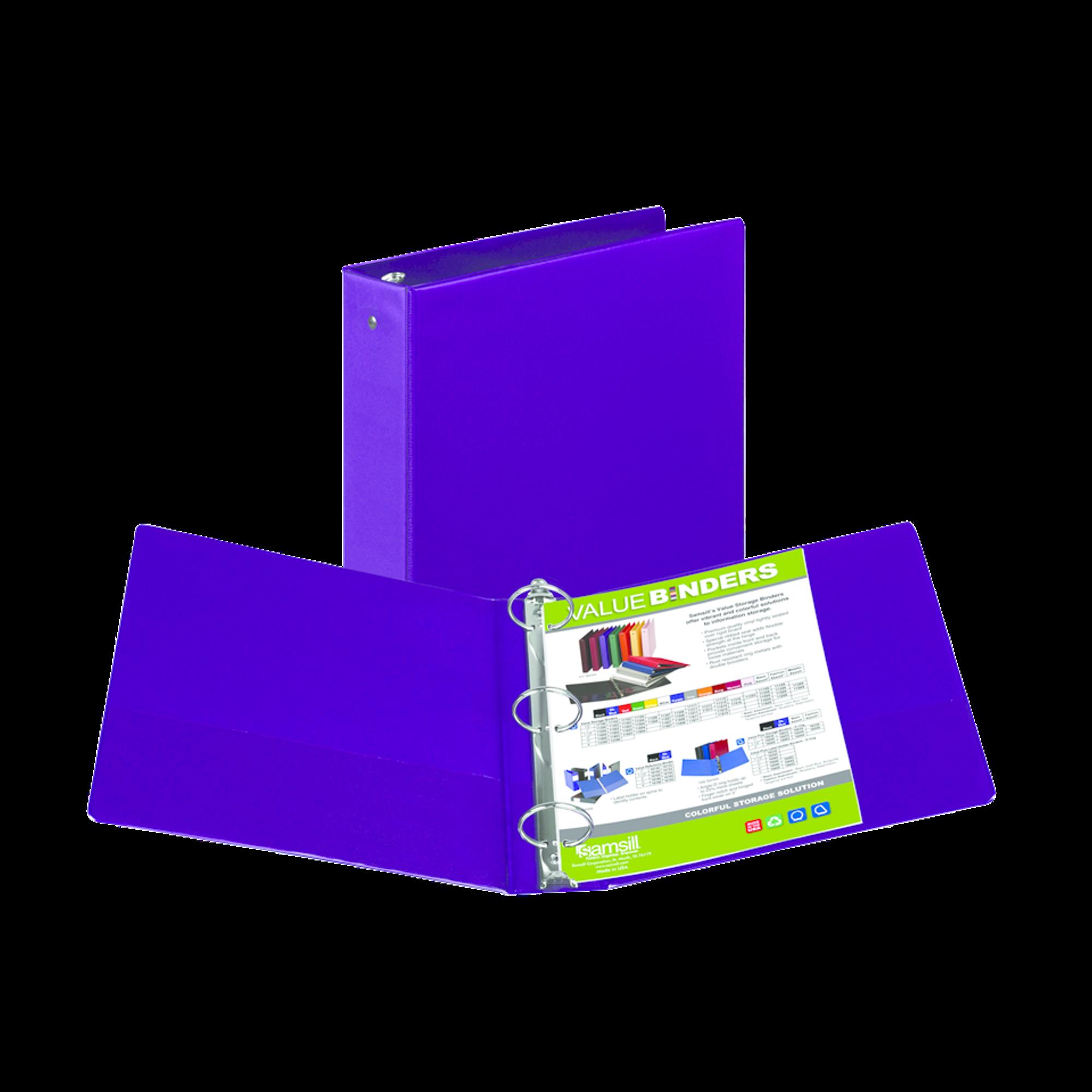 image of: Samsill Value Storage Pocket Binder - Purple 2in