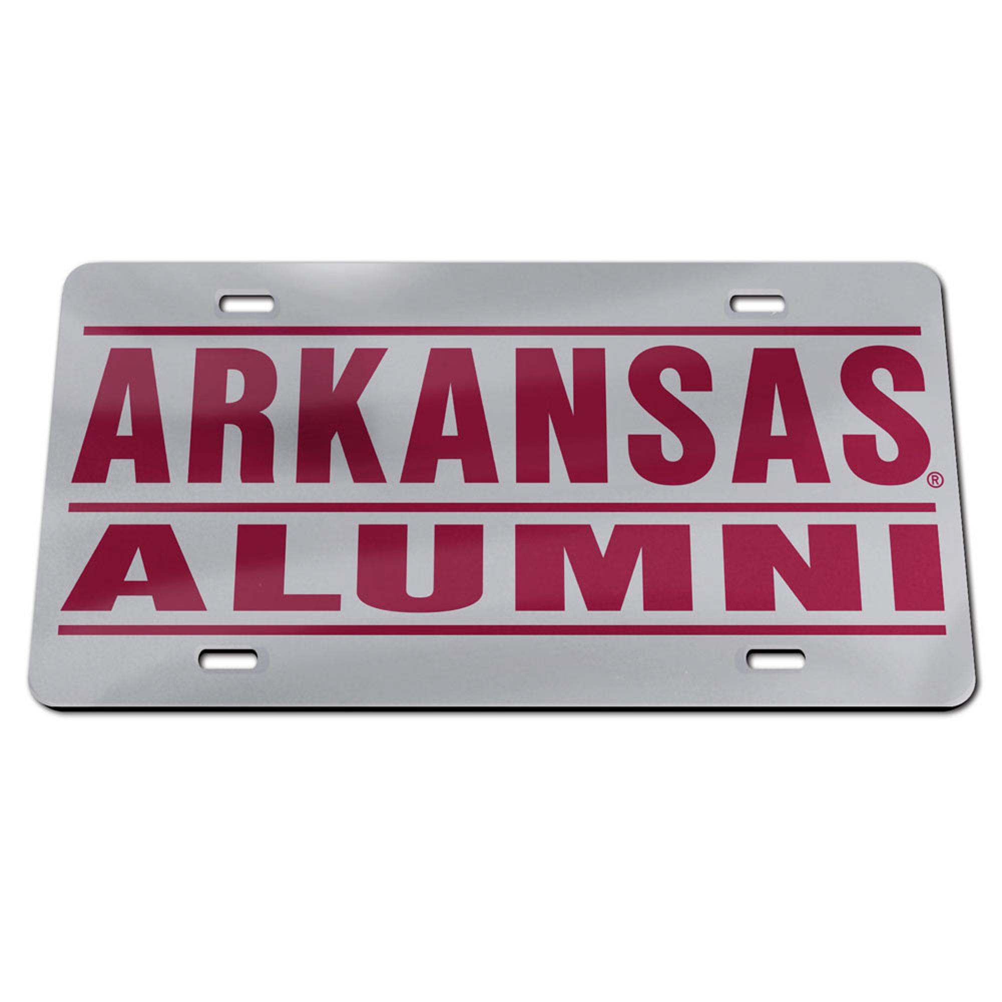 Image for Arkansas Razorbacks Alumni Wincraft Crystal Mirror License Plate