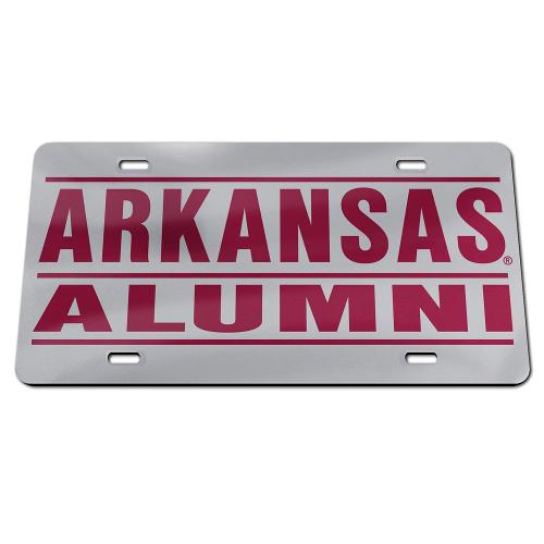 Arkansas Razorbacks Alumni Wincraft Crystal Mirror License Plate