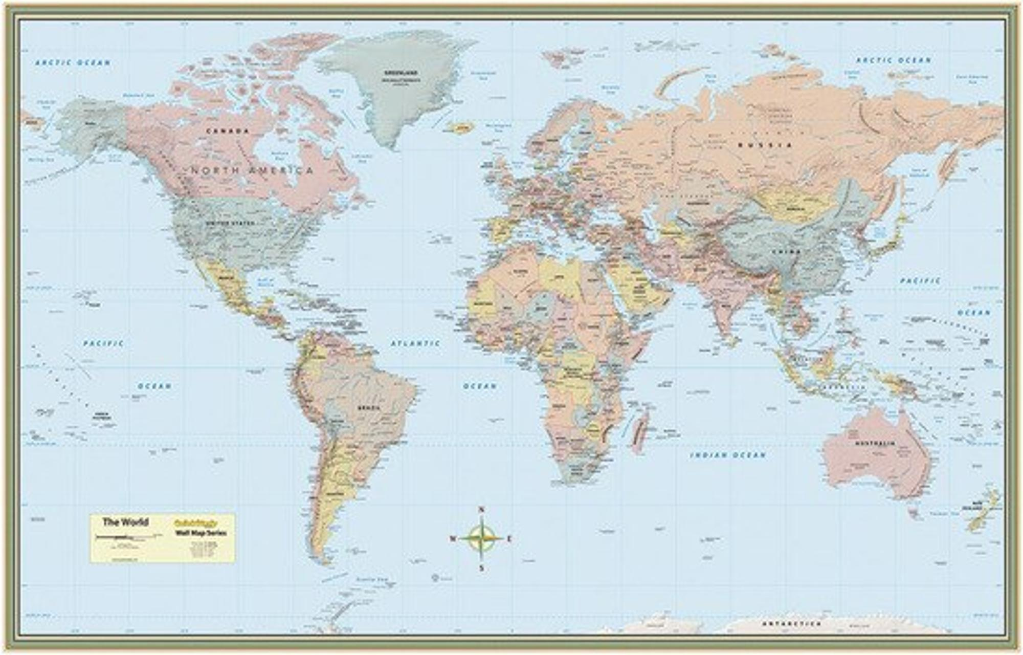 image of: WORLD MAP PAPER POSTER