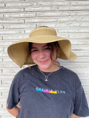 Arkansas Razorbacks Women's Lucy Roll-up Wide Brim Visor - Natural