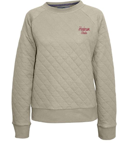 Henderson State Quilted Crew
