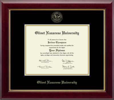 image of: Gold Embossed Diploma Frame in Gallery