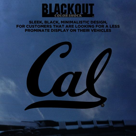 Black Out Decal Cal Logo