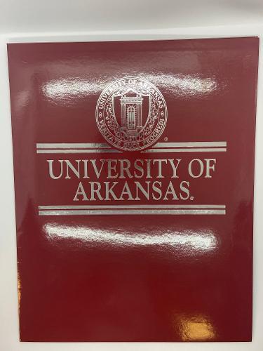 University of Arkansas Seal Crimson Glossy Folder