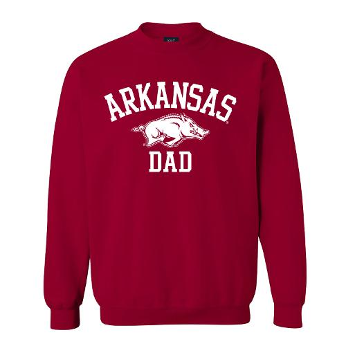 Arkansas Razorbacks Dad Fundamental Crew- Crimson