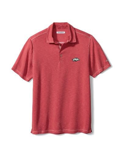 Arkansas Razorbacks Tommy Bahama Sport Palmetto Paradise Men's Polo - Chili Pepper