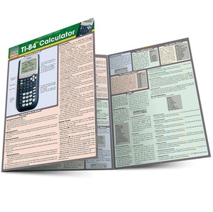 TI-84 CALCULATOR LAMINATED STUDY GUIDE