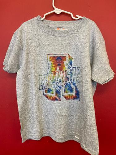 Arkansas Youth Tie Dye Short Sleeve Tee