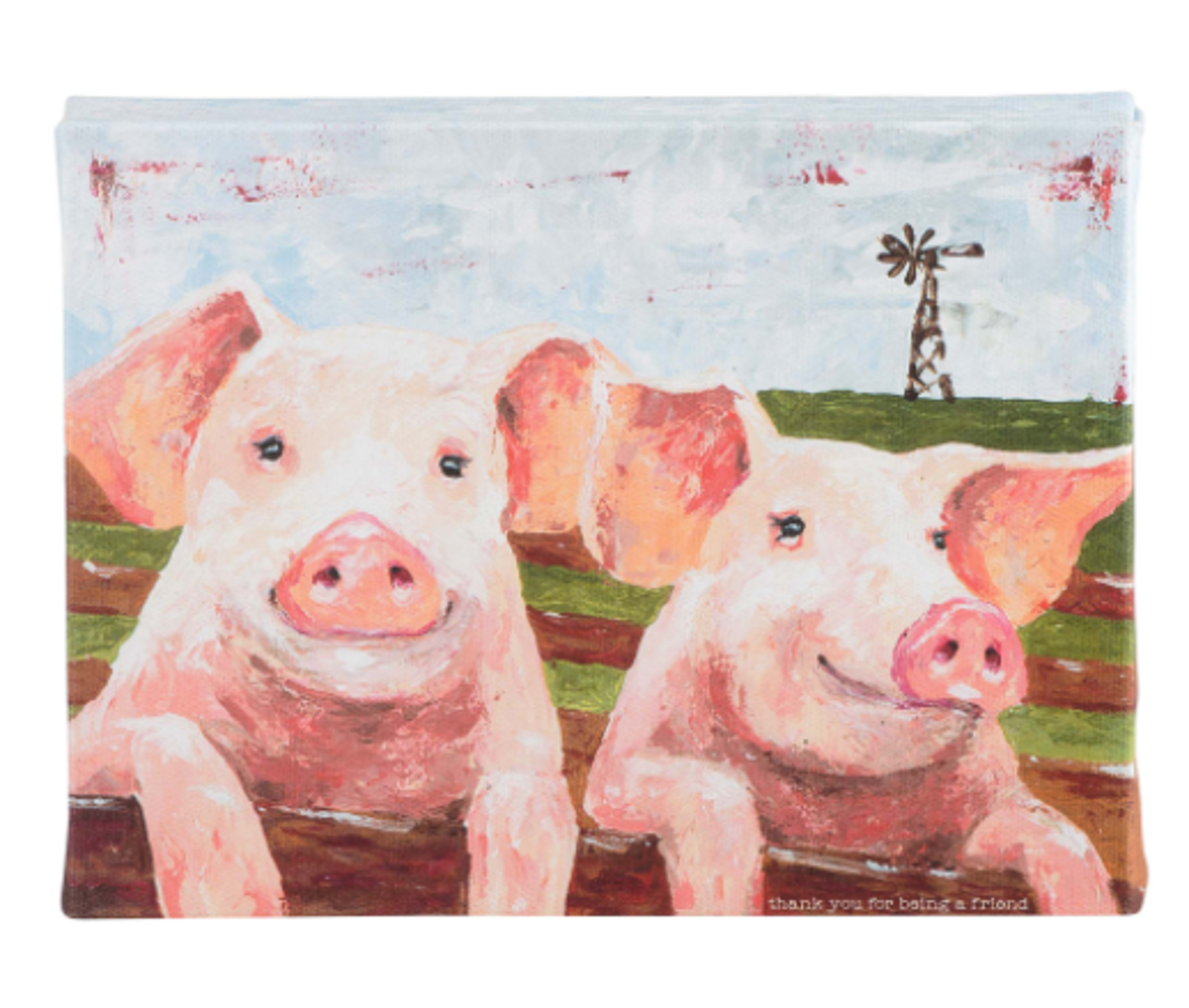 Image for Glory Haus Thank You for Being a Friend Pig Canvas