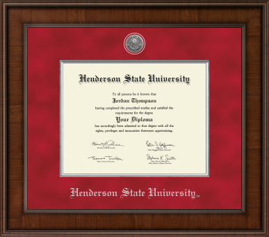 image of: Presidential Silver Engraved Diploma Frame