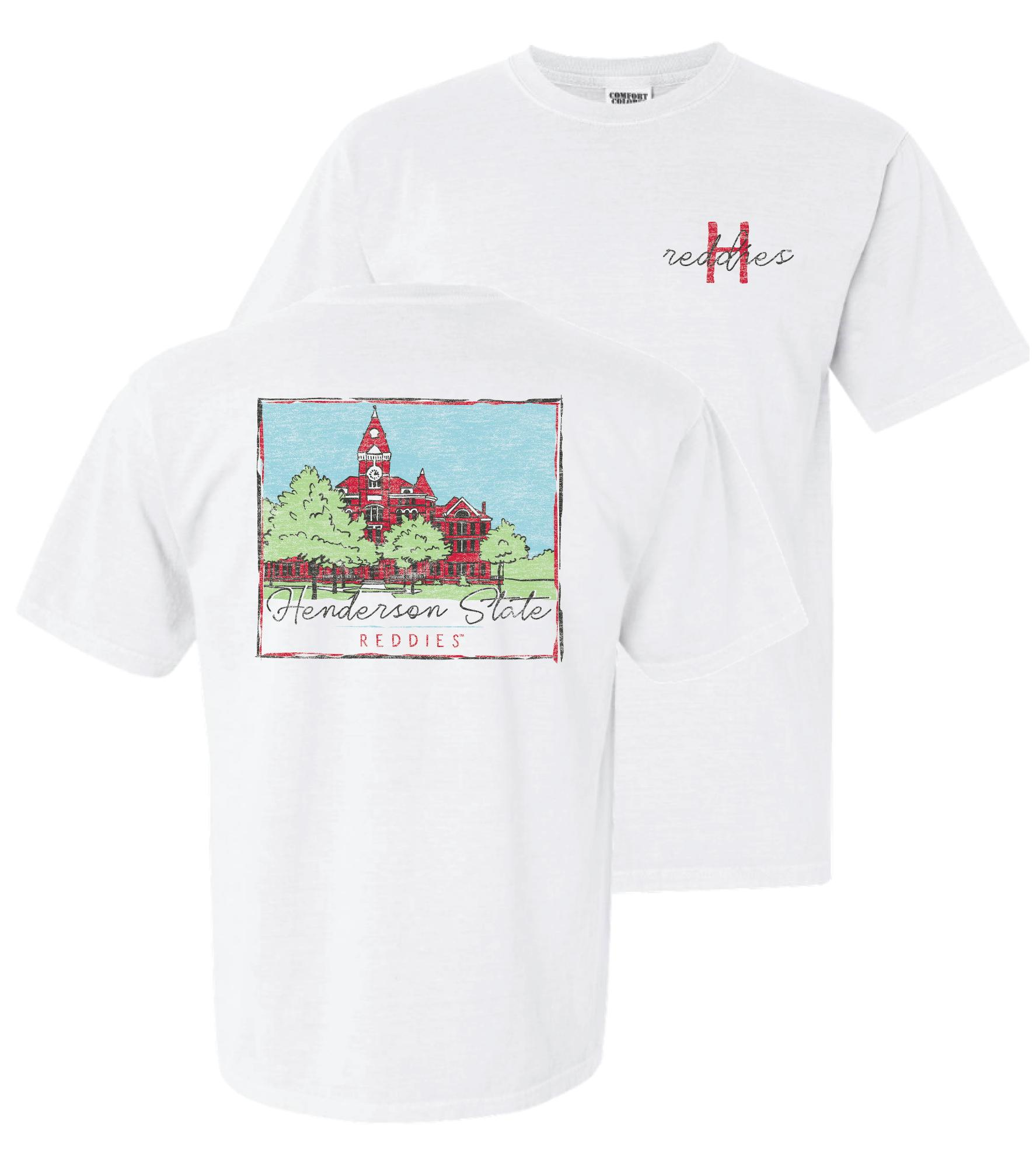 image of: Henderson State Reddies Old Main Comfort Colors Short Sleeve T-Shirt