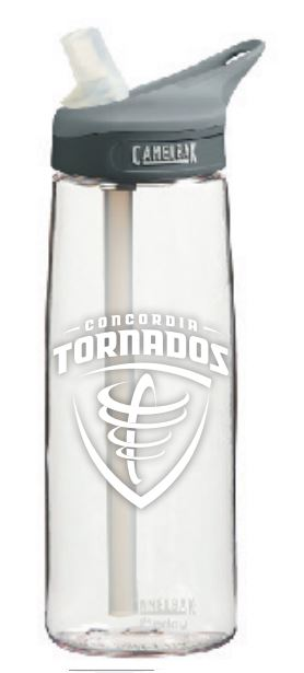 Detailed image of Eddy CamelBack 25 oz. Mascot Water Bottle - Clear