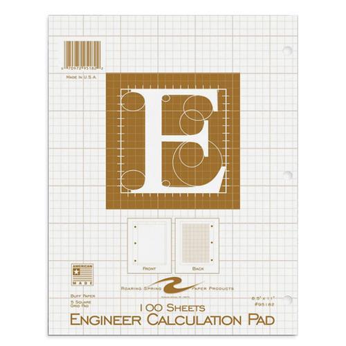 Engineering Paper Calculation Pad - 100 Sheet