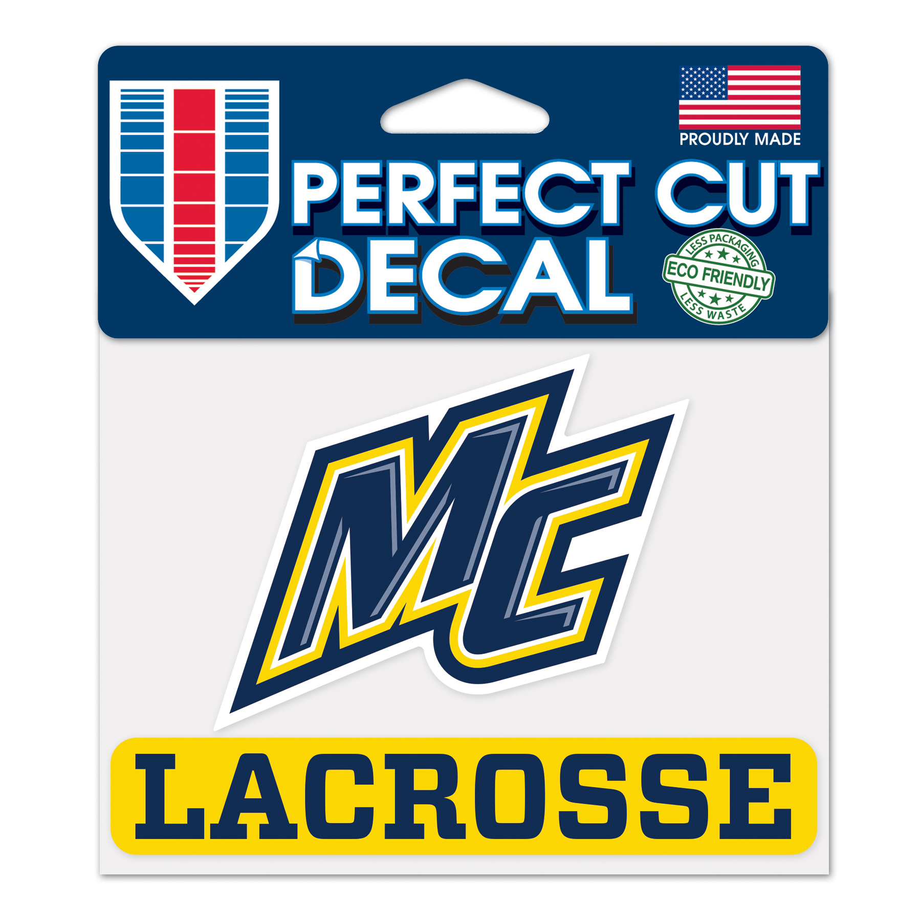 NEW FONT LACROSSE DECAL