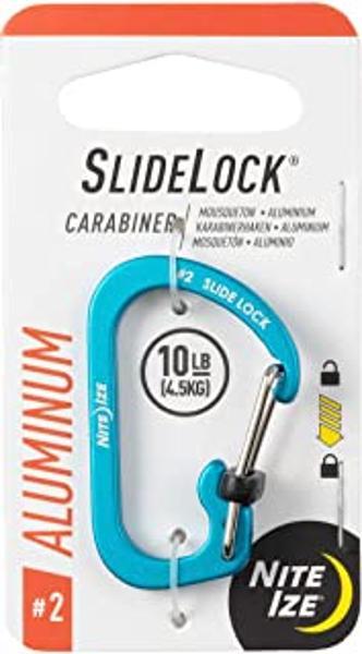 SlideLock Carabiner Aluminum #2 - Blue