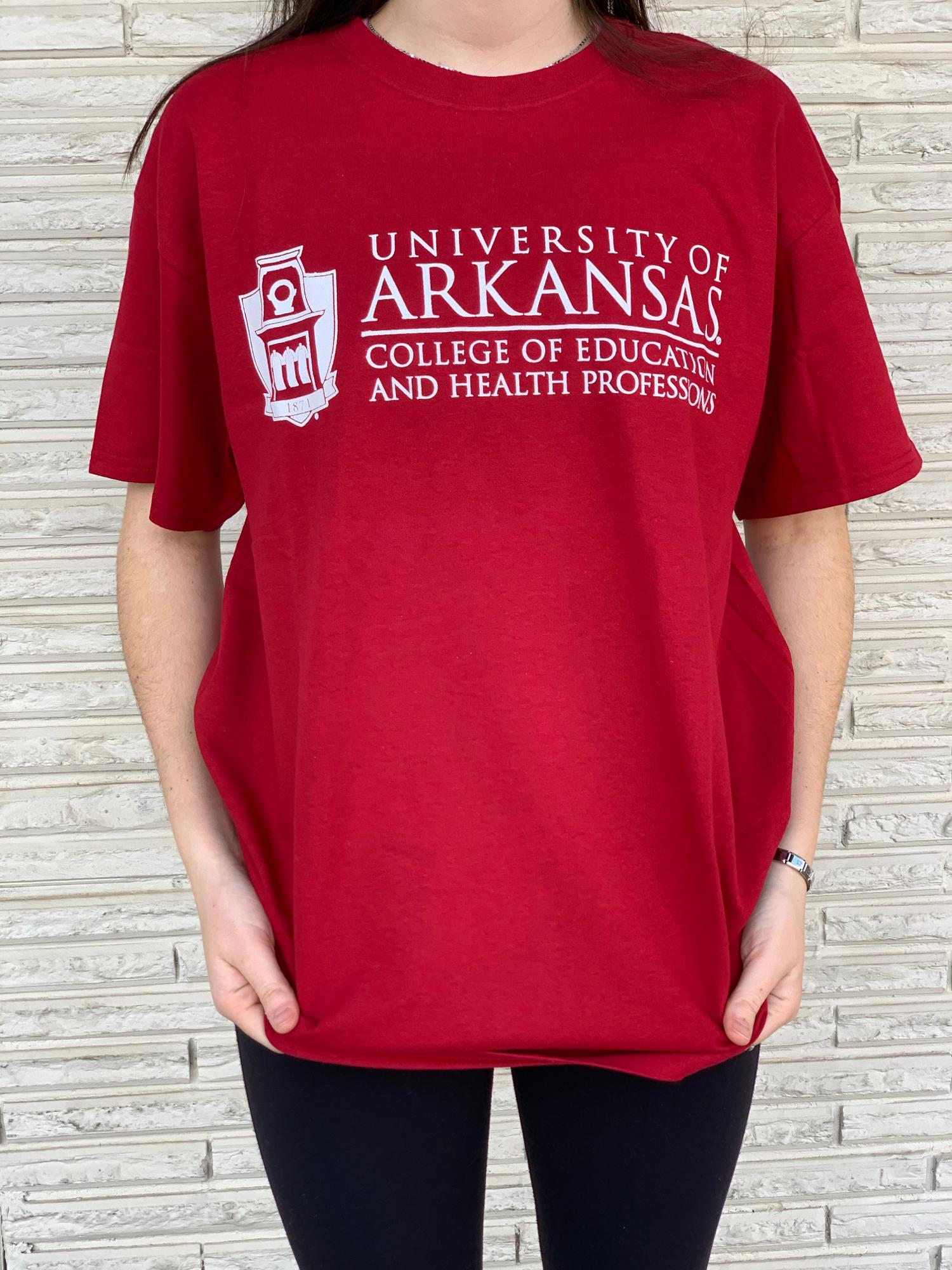 image of: University of Arkansas College of Education Side Tower Tee