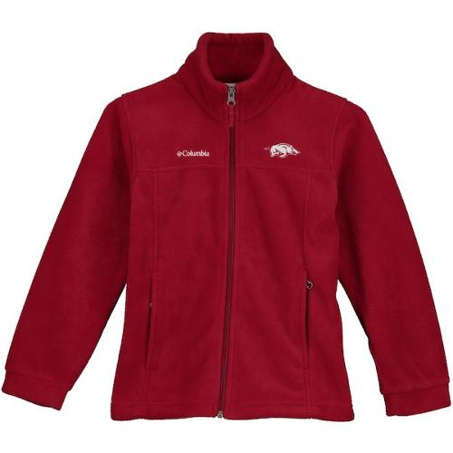 Arkansas Razorbacks Columbia Youth Full Zip Fleece - Red