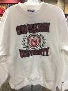 Image for the White Campbell Crew Neck Sweatshirt OWU Emblem product