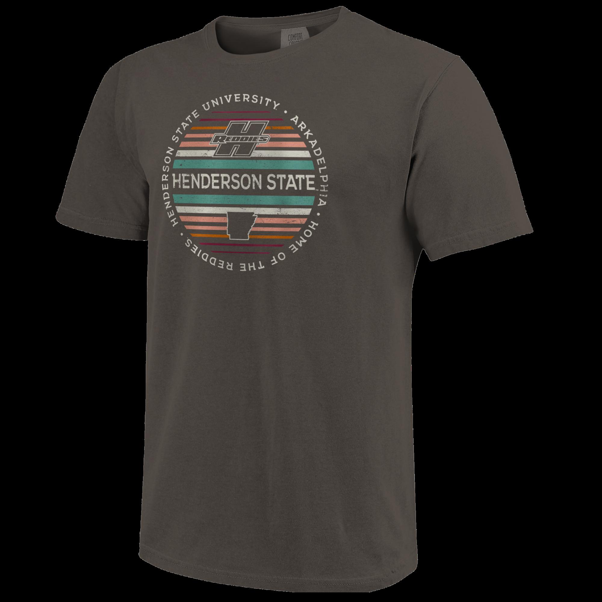 image of: Henderson State Reddies Color Stripes Short Sleeve T-Shirt