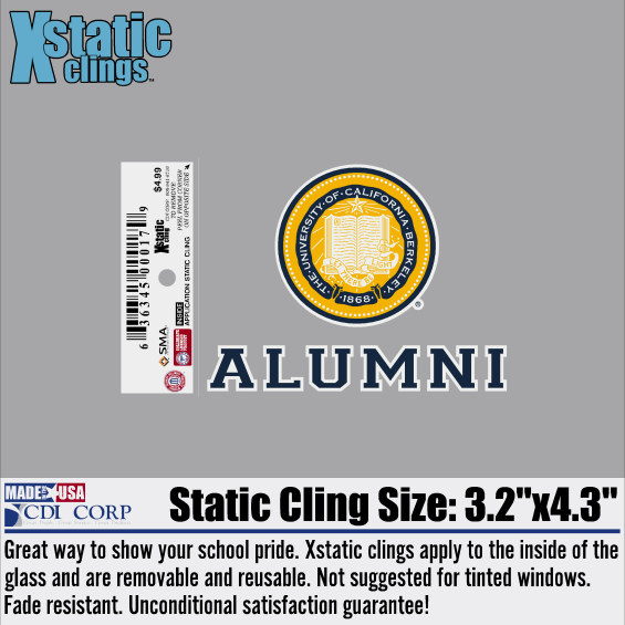 XStatic Cling Decal Seal Alumni