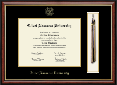 image of: MA/PhD Tassel Edition Diploma Frame in Southport Gold