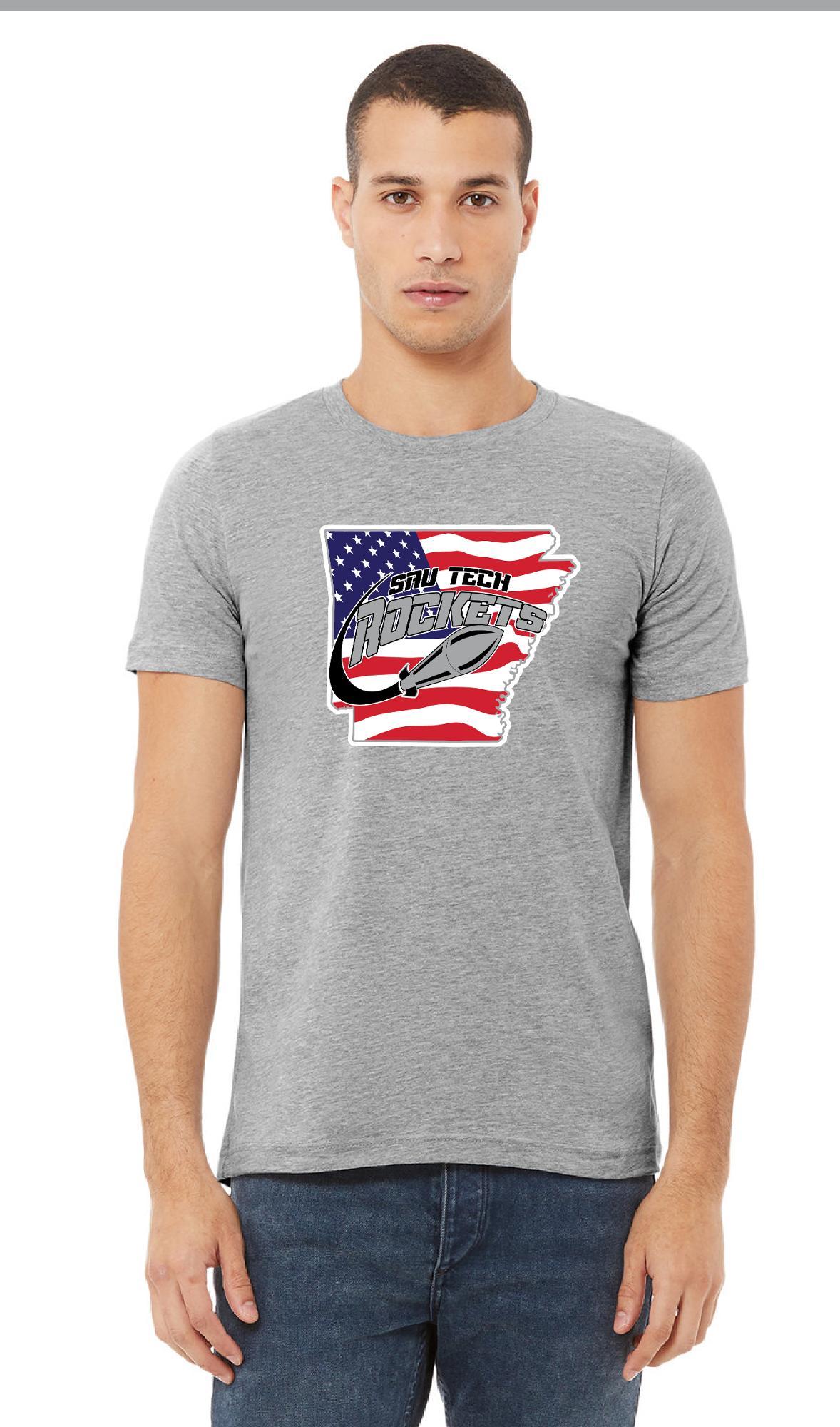 image of: SAU Tech Arkansas Flag Short Sleeve Tee