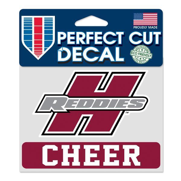 "Henderson Reddies 4"" x 5"" Cheer Perfect Cut Decal"