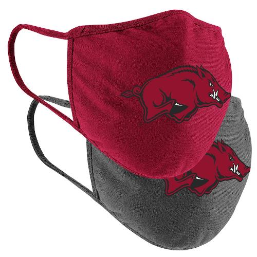 Arkansas Razorbacks Colosseum Adult Logo Mask 2-Pack