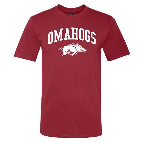 Arkansas Razorbacks Omahogs Running Hog Tee - Crimson