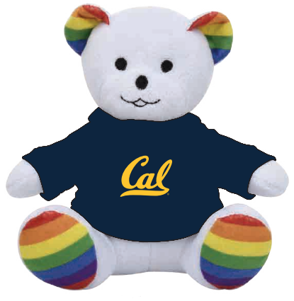 Plush 6in Cal Logo Tee Pride Bear