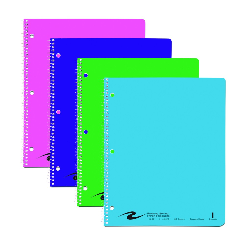 image of: RS 1 Subject Notebook, College Ruled, 80 Sheets