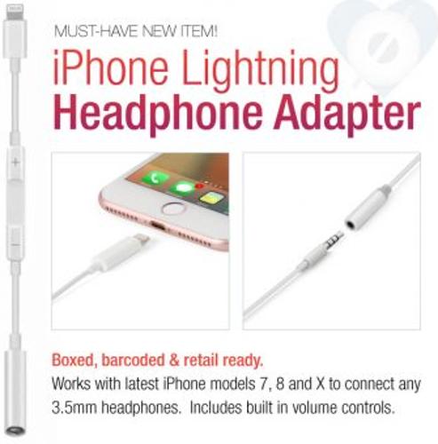 Lightning Compatible Headphone Adapter