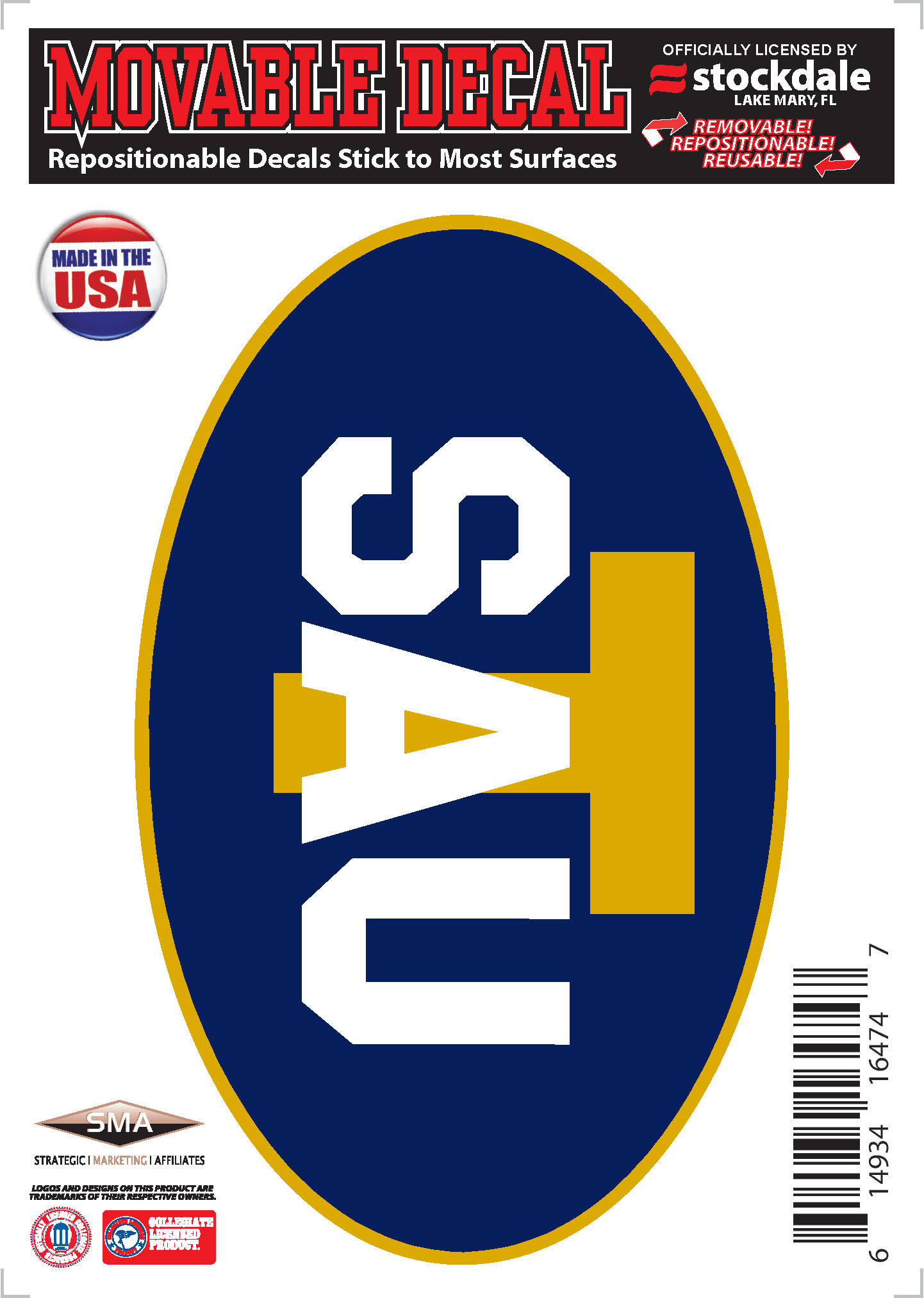 Oval SAU T Decal
