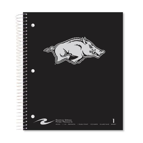 Arkansas Razorback Roaring Springs Running Hog 1-Subject Notebook