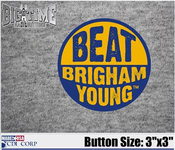 Beat Button Brigham Young