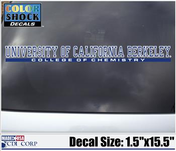 Color Shock Decal College of Chemistry