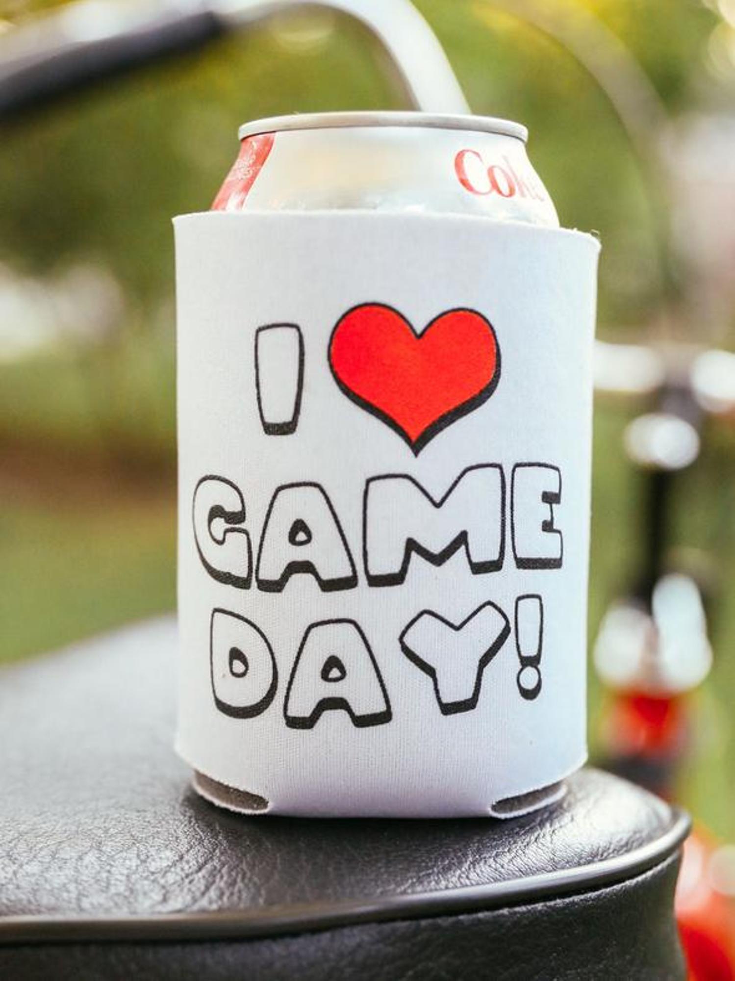 image of: I Heart Gameday Koozie